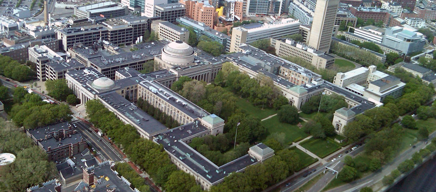 aerial photo of mit