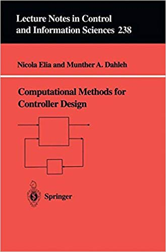 Book cover for Computational Methods for Controller Design - red cover with title and authors and a simple controller drawing